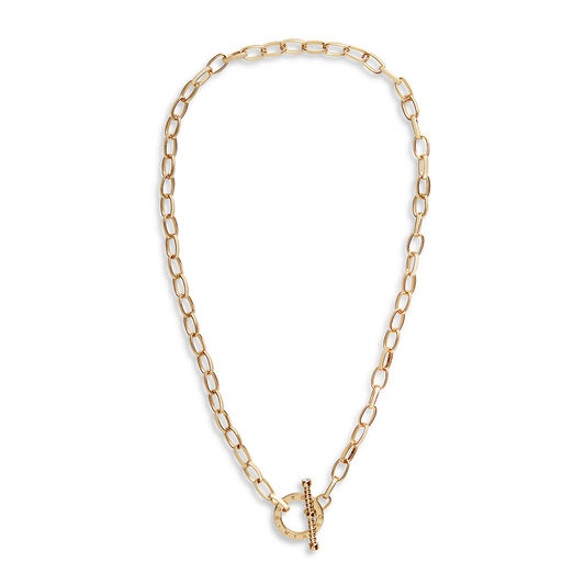 Bejewelled T-Bar Necklace Gold