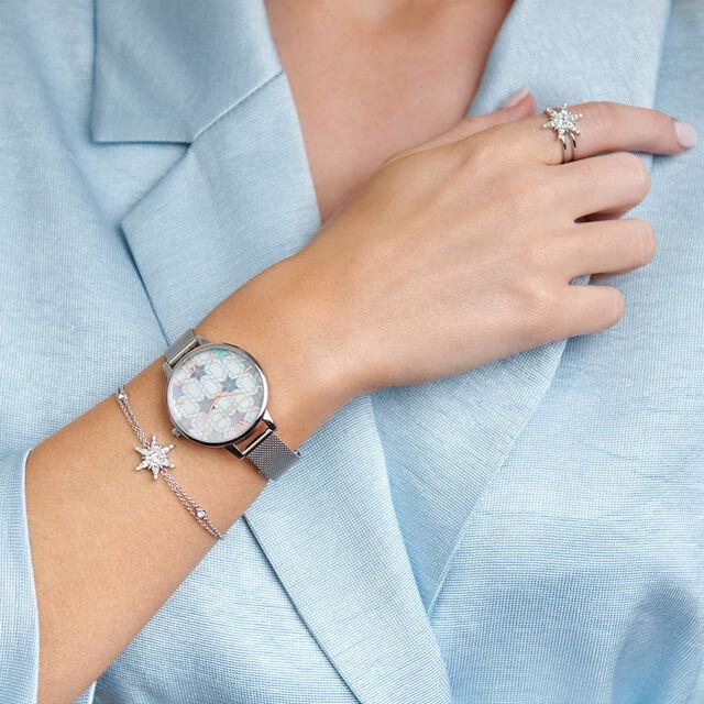 Snowflake Silver Chain Bracelet