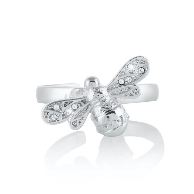 Sparkle Bee Silver Ring