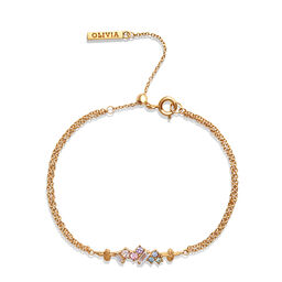 Rainbow Bee Chain Bracelet Gold