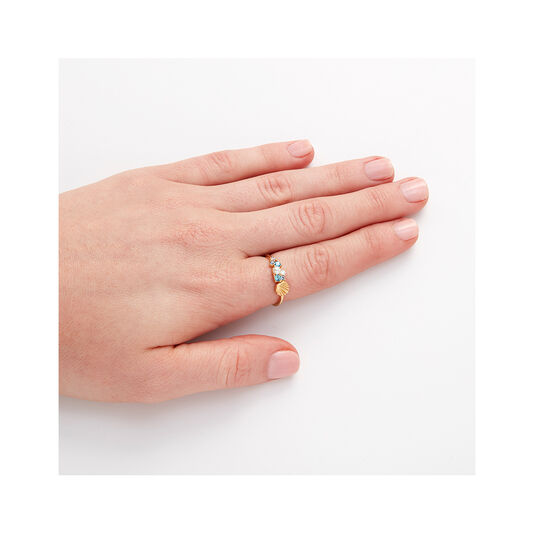 Under The Sea Shell Bubble Ring Gold S