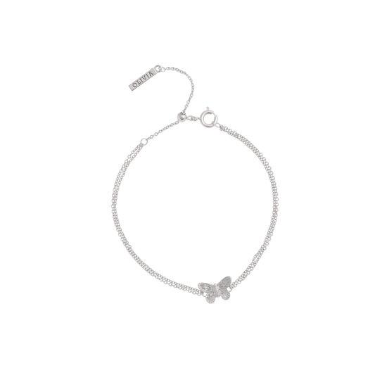 3D Butterfly Chain Bracelet Silver