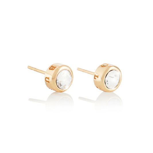 BeJewelled Classics Round Stud Earring Gold