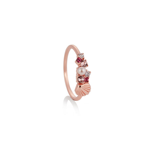 Under The Sea Shell Bubble Ring Rose Gold M