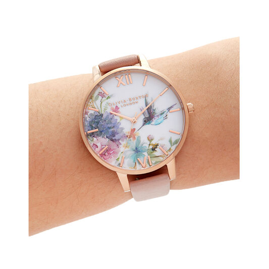 Painterly Prints Big Dial Dusty Pink & Rose Gold