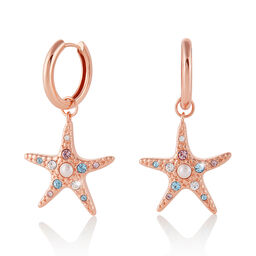 Starfish Rose Gold Huggies