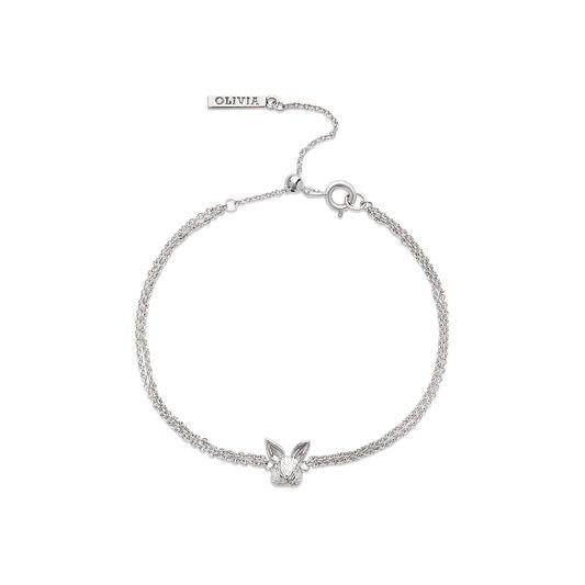 3D Bunny Chain Bracelet Silver