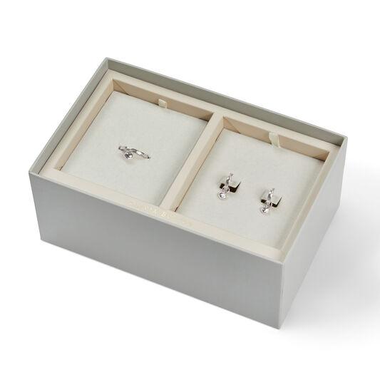 Interlink Heart Gift Set Silver
