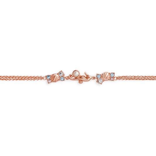 Seahorse Sparkle Rose Gold Chain Bracelet