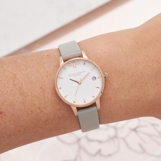 Queen Bee Grey & Rose Gold Watch