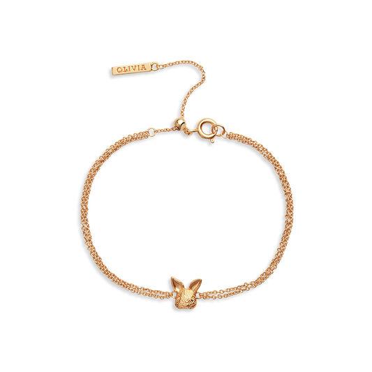 3D Bunny Chain Bracelet Gold