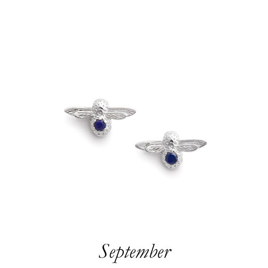 Celebration Bee Studs Silver & Lapis