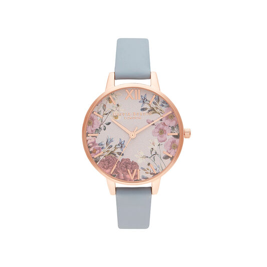 British Blooms Chalk Blue & Rose Gold