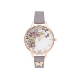 Enchanted Garden Demi Grey Lilac & Rose Gold