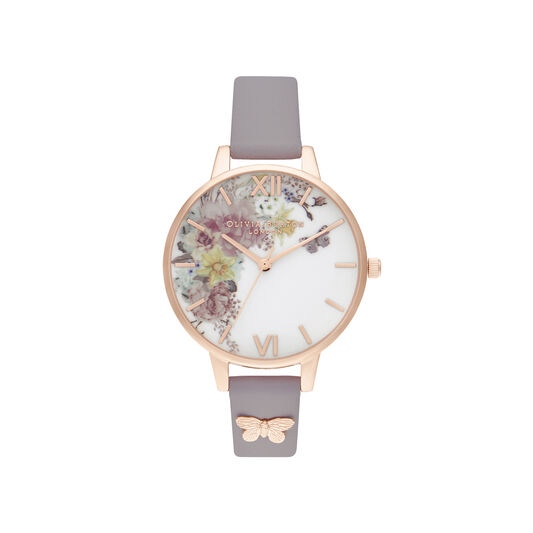 Enchanted Garden Demi gray Lilac & Rose Gold