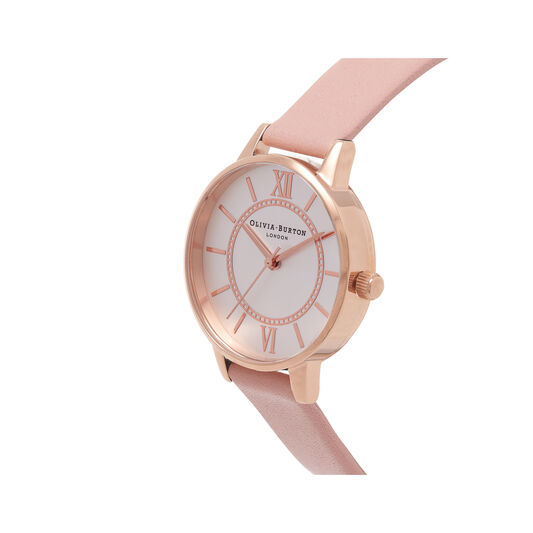 Wonderland Dusty Pink And Rose Gold Watch