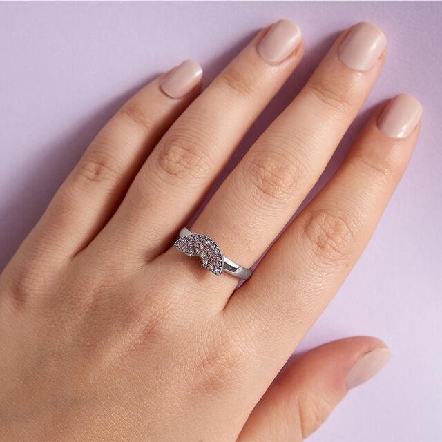 Rainbow Silver Ring