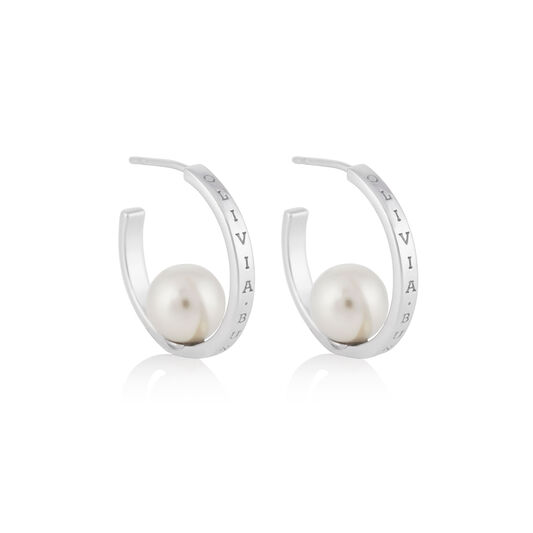 The Classics Silver Pearl Hoop