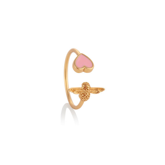 Love Bug Ring Pink & Gold