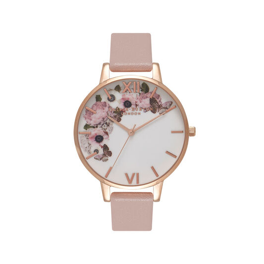 Olivia Burton Vegan Friendly Rose Sand & Rose Gold Watch