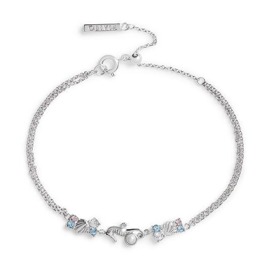 Seahorse Sparkle Silver Chain Bracelet