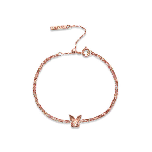 3D Bunny Rose Gold Bracelet