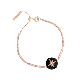 Celestial Black & Rose Gold Bracelet