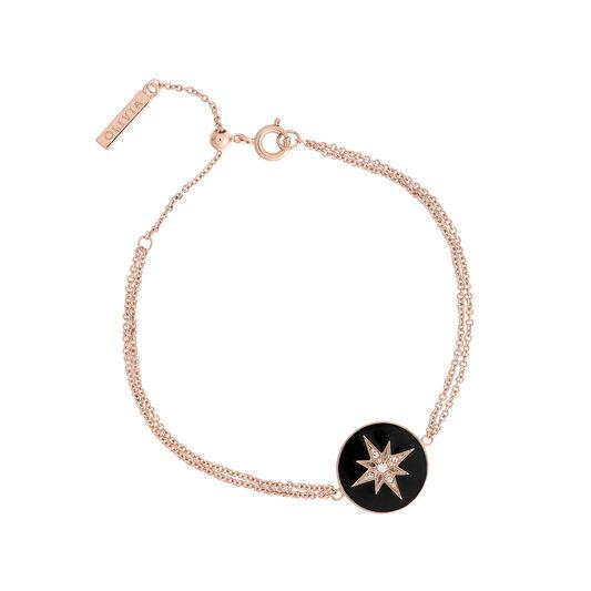 Celestial Black & Rose Gold Bracelet