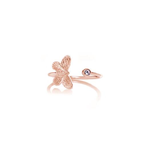 Bejewelled Butterfly Rose Gold & Rose Quartz
