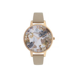 Marble Florals Big Dial Watch