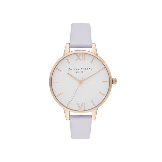 Demi White Dial Parma Violet & Pale Rose Gold