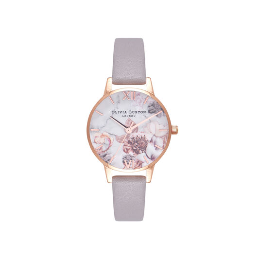 Marble Floral Rose Gold Watch