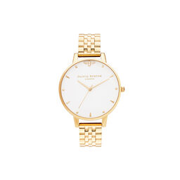 Queen Bee, White Dial & Gold Bracelet