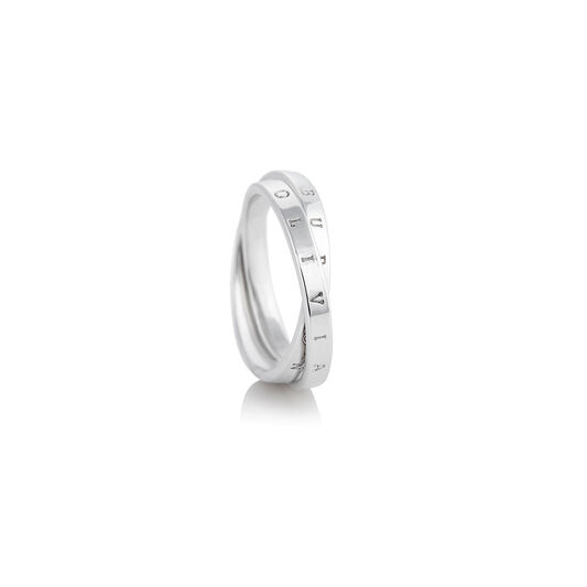 The Classics Interlink Ring Silver M
