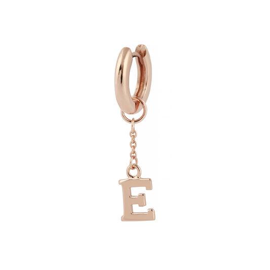 G Alphabet Huggie Charm Rose Gold
