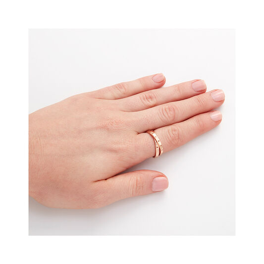 The Classics Interlink Ring Rose Gold M