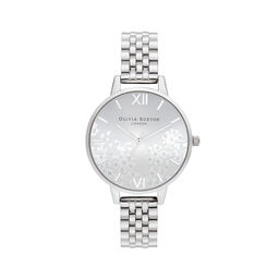 Bejewelled Lace  Silver Bracelet