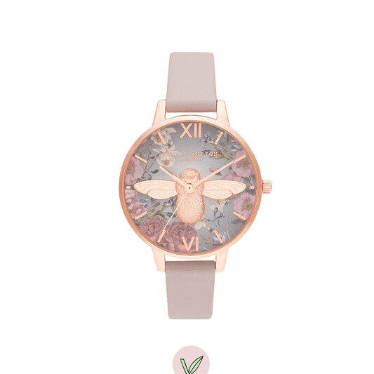 British Blooms 3D Bee, Vegan Rose & Rose Gold