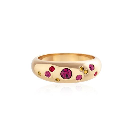 Jewel Tone Rainbow Gold Ring