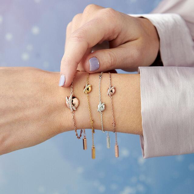 Planet Rose Gold Chain Bracelet