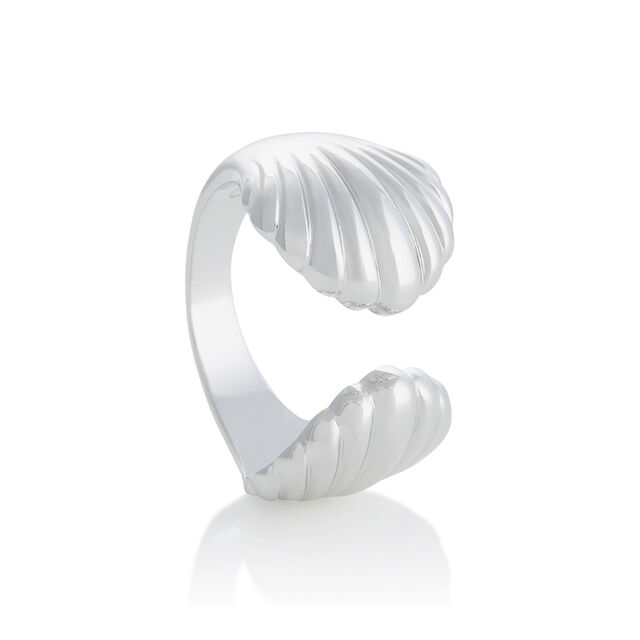 Double Shell Silver Ring