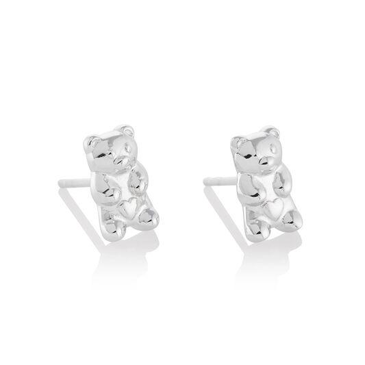 Gummy Bear Silver Stud Earrings