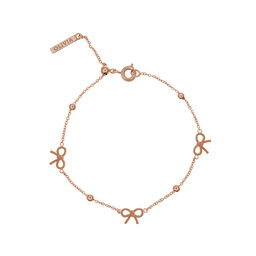 Bow and Ball Bracelet Rose Gold