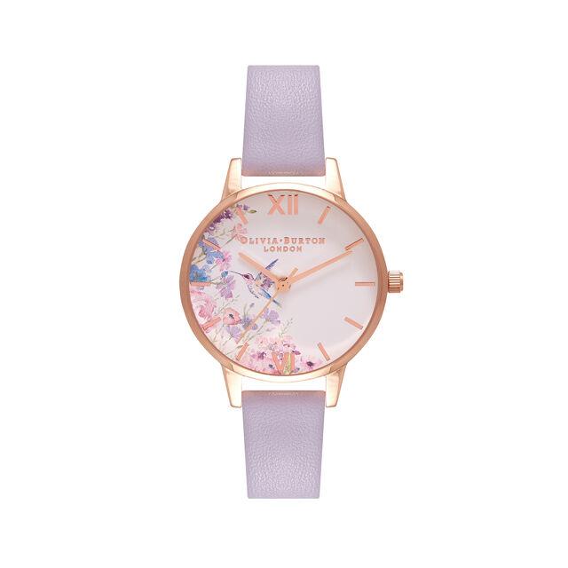 Midi Hummingbirds Parma Violet & Rose Gold Watch