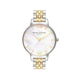 Mother of Pearl White Bracelet, Gold & Silver