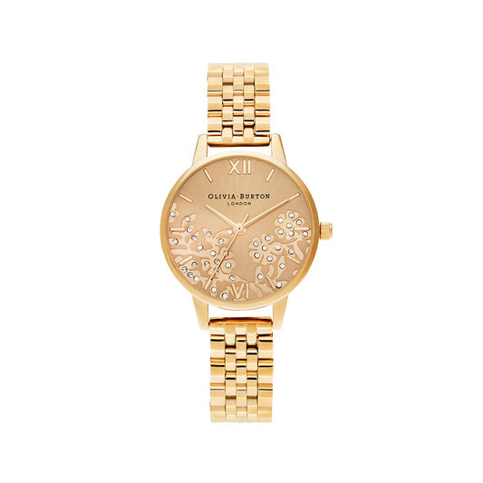 Bejewelled Lace Gold Bracelet