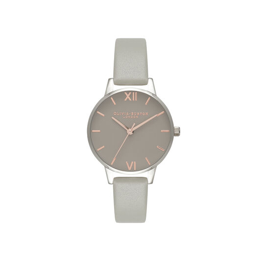Midi Grey Dial Grey Watch, Rose Gold & Silver