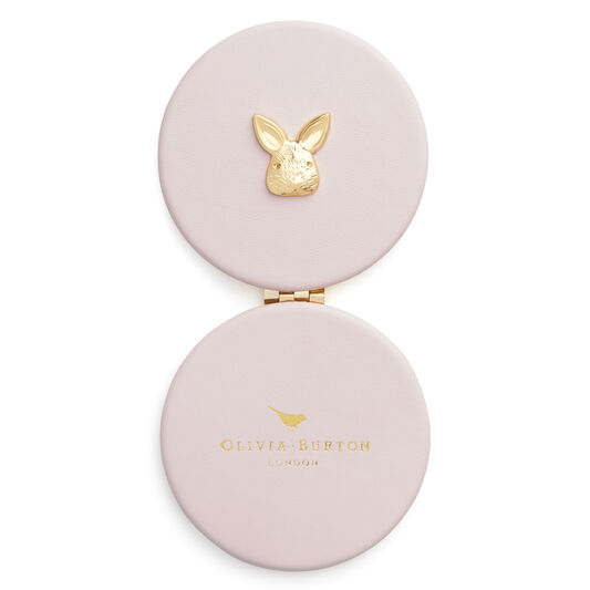 3D Bunny Compact Mirror Blossom & Gold