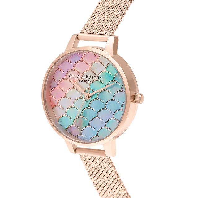 Mermaid Tail Demi Dial Rose Gold Boucle Mesh Watch