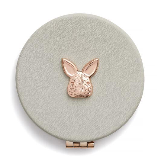 3D Bunny Compact Mirror Grey & Rose Gold